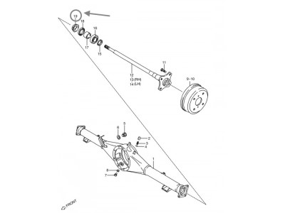 Protecteur de joint torique - Suzuki Carry