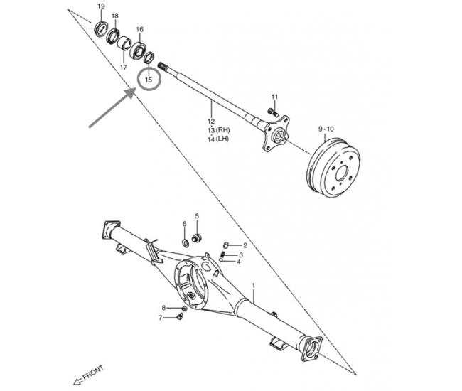 Entretoise de roulement de roue arrière - Suzuki Carry
