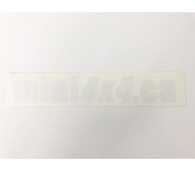 Sticker Mini4x4.ca - white